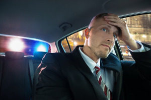 man pulled over due to probable cause of a crime