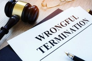 wrongful termination paperwork to be filled out by a Northern Virginia employment law defense attorney