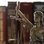 Lady justice looking over the legal world